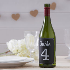 Vintage Chalkboard Wedding Table Numbers Stickers - table numbers