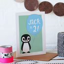 Personalised Children's Penguin Birthday Card