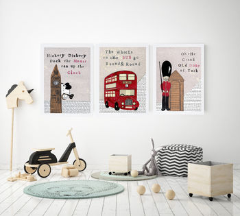 Set Of Three London Nursery Prints