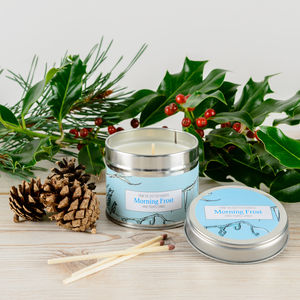 Morning Frost Peppermint Scented Candle