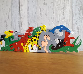 Jungle Animal / Number Jigsaw