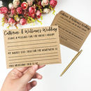 Newlyweds Bucket List A6 Kraft Wedding Note Cards