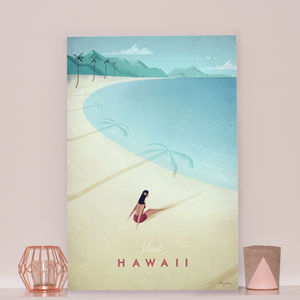 'Visit Hawaii' Travel Poster - maps & locations