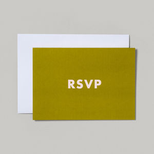 RSVP Wedding Party Acceptance Card