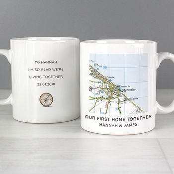 Personalised Map Mug Gift