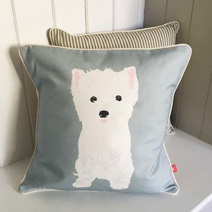 West Highland Terrier Feature Cushion - cushions
