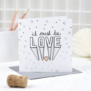 'It Must Be Love' Card