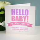 Optional Personalised Card