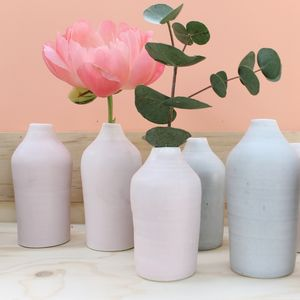 Small Slim Porcelain Bottle - gifts for her