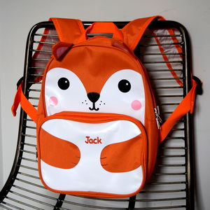 Personalised Kids Fox Back Pack - bags, purses & wallets