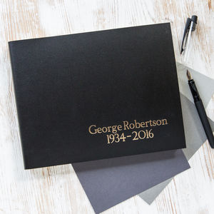 Personalised Traditional Condolence Book