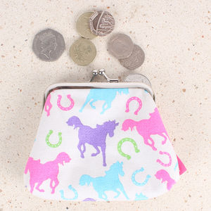 Playful Ponies Coin Clipper Purse - winter sale
