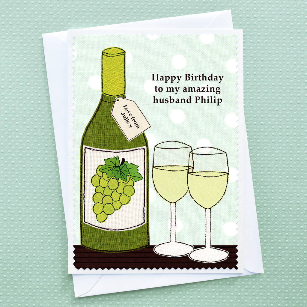 Birthday Wine Personalised Card By Jenny Arnott Cards Gifts