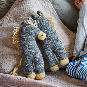Dinky Donkey Soft Knit Toy - gifts for babies