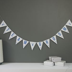 Team Groom Bunting - personalised