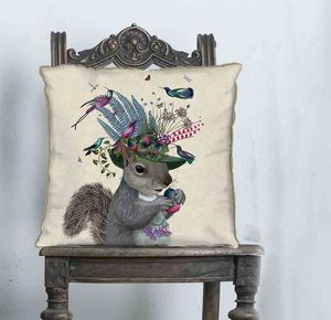 Squirrel Decorative Cushion - living room
