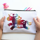 Personalised Sparkle Unicorn Bag Gift For Girls