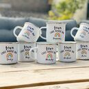 Team Enamel Mugs With Rainbow, For Family Or Work Team