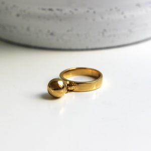 18ct Gold Vermeil Athena Swing Ring