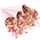 Pink Confetti Cones with Blush