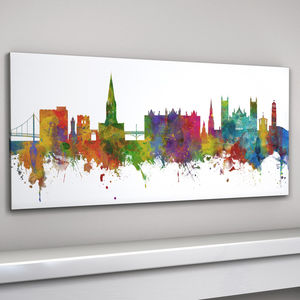 Exeter City Skyline - paintings & canvases
