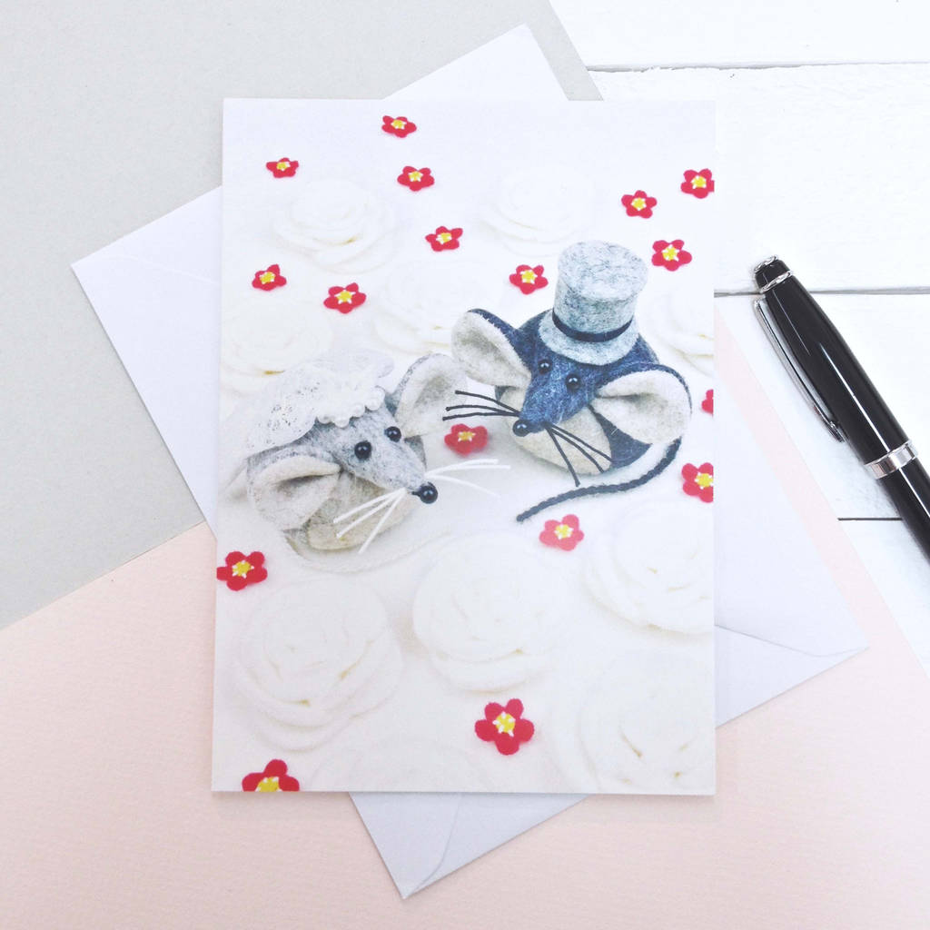 Mice Wedding Greeting Card