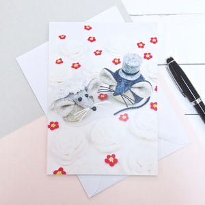 Mice Wedding Greeting Card - wedding cards