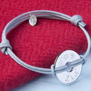 Personalised Coordinate Open Disc Bracelet