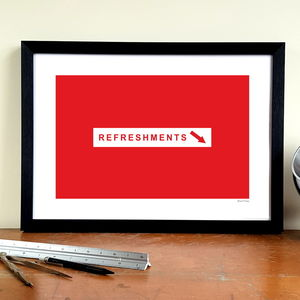 'Refreshments' Minimalist Nottingham Forest Print - posters & prints