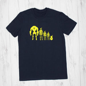 Mens Personalised Star Wars Droid Family T Shirt - men's fashion