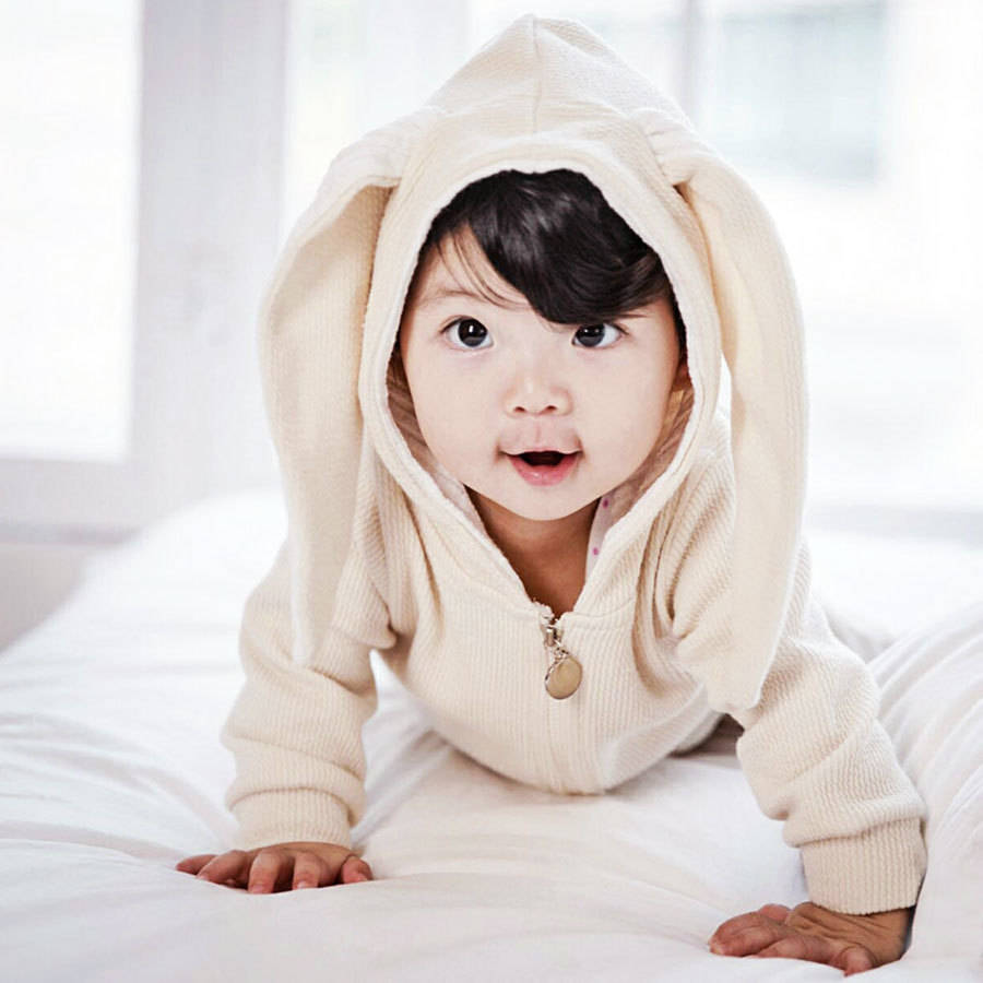 5b9f35d83f60 personalised bunny hooded jumpsuit by jj park