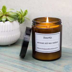 Hearth Pharmacy Jar Soy Candle - candles