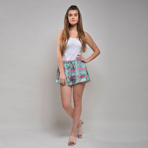 Shorts Flamingo Garden Print - women's fashion
