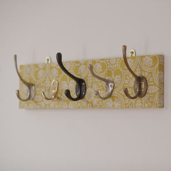 Tile Fabric Mismatched Coat Rack With Five Hooks
