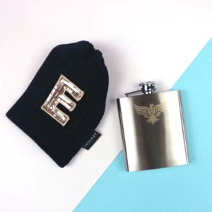 Stylish Hip Flask In Personalised Gift Bag - hip flasks