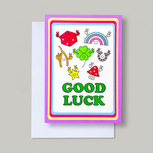 Retro Cool Good Luck Lucky Charms Card - good luck cards