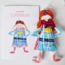 Personalised Super Mum Children's Drawing Keepsake