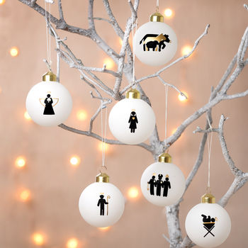 Six Nativity Baubles