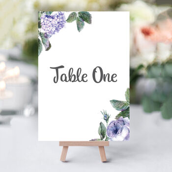 Wild Roses Table Numbers