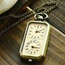 Vintage Style Double Watch Pendant Necklace