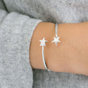 Adjustable Stars Bangle - personalised jewellery