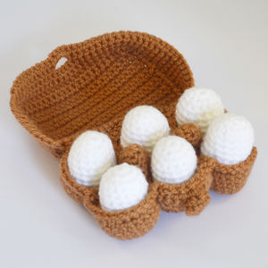 Crochet Amigurumi Play Food Eggs - pretend play & dressing up