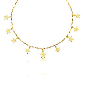 Amalfi 18ct Gold Vermeil Multi Star Necklace