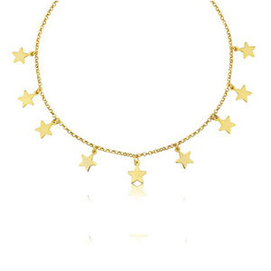 Amalfi 18ct Gold Vermeil Multi Star Necklace - view all new