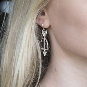 Love Struck Heart And Arrow Earrings
