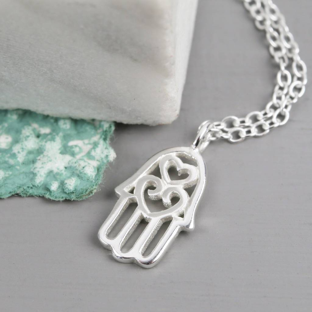 hand filigree necklaces zoom london hamsa necklace lucky eyes jewellery