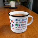 Personalised Growing Minds Teacher Mug