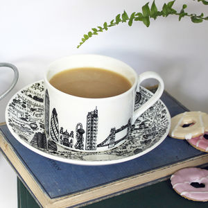 East London Teacup And Saucer Set - cups & saucers