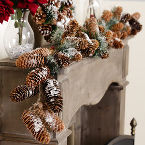 Nordic Christmas Mantlepiece Or Stairway Garland - garlands & bunting