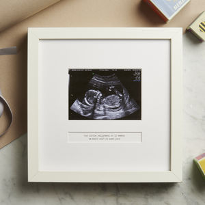 Personalised My First Scan Frame - gifts for mums-to-be
